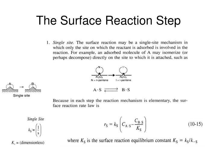 The Surface Reaction Step