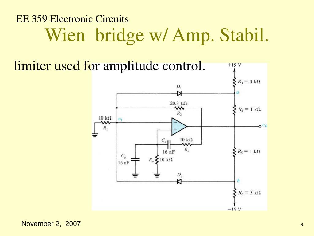 Wien  bridge w/ Amp. Stabil.