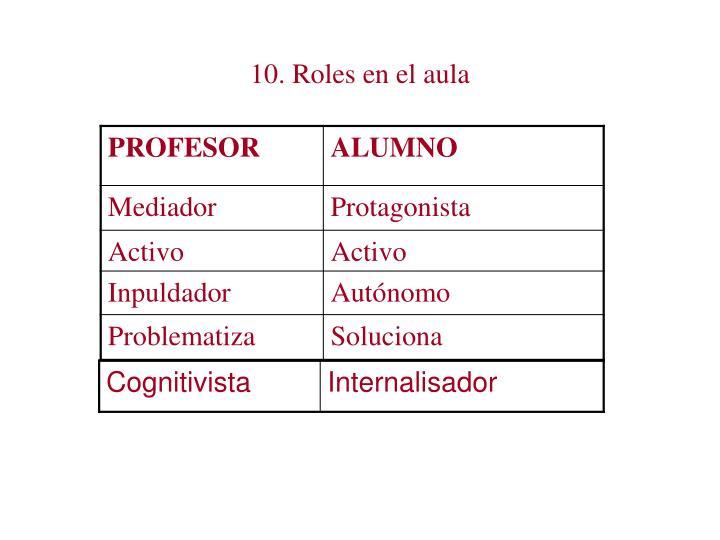 10. Roles en el aula