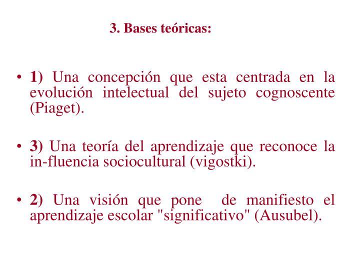3. Bases teóricas: