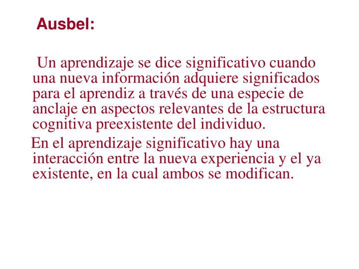 Ausbel: