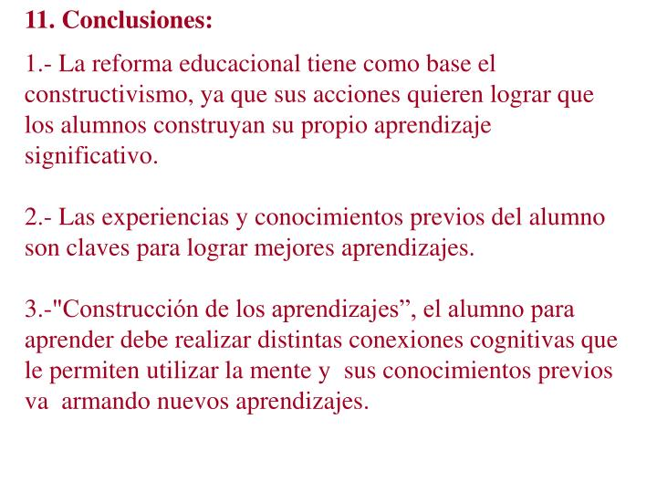 11. Conclusiones: