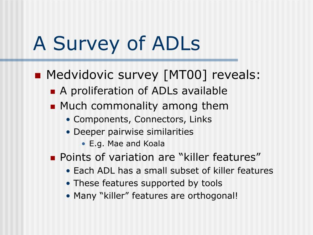 A Survey of ADLs