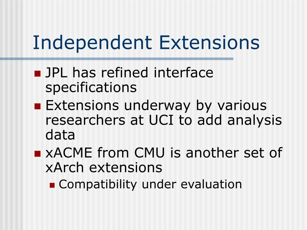 Independent Extensions