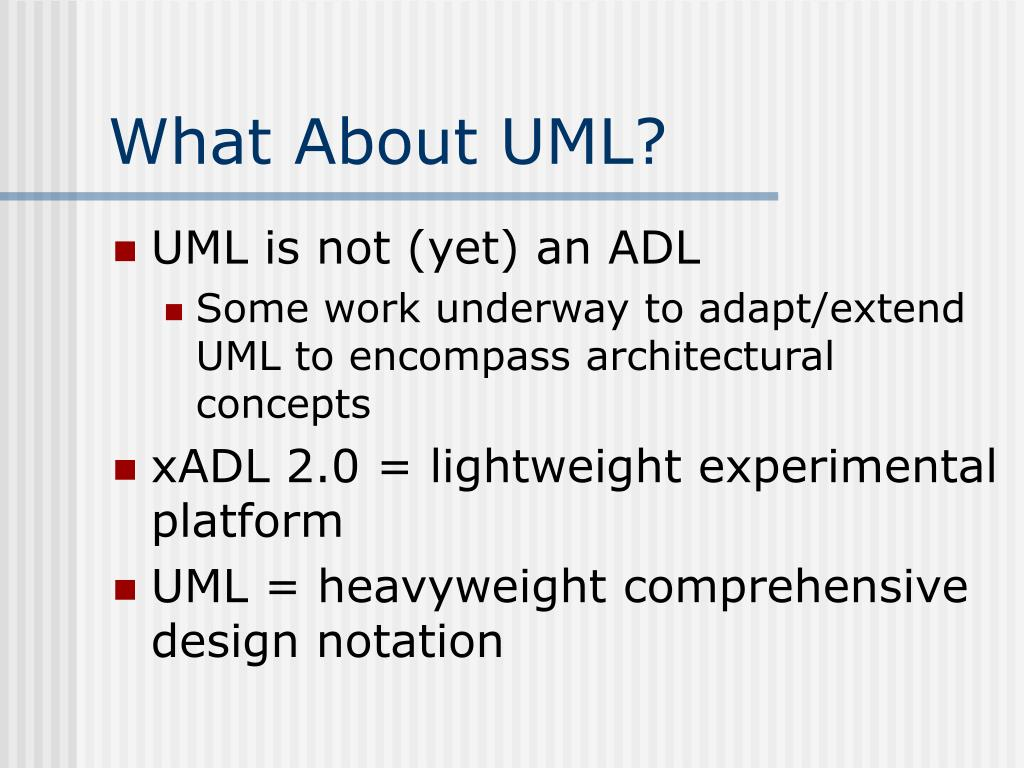 What About UML?
