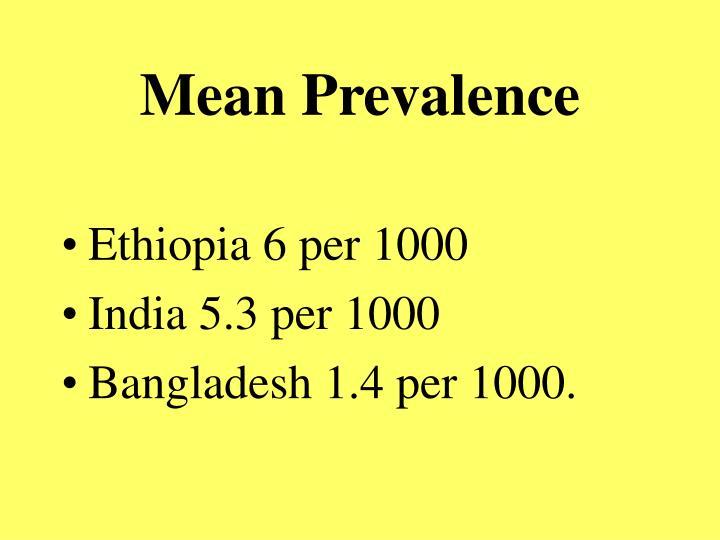 Mean Prevalence