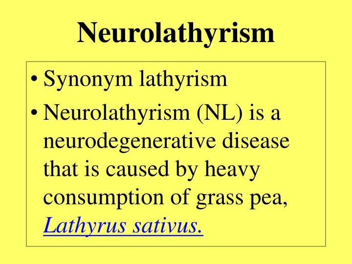 Neurolathyrism