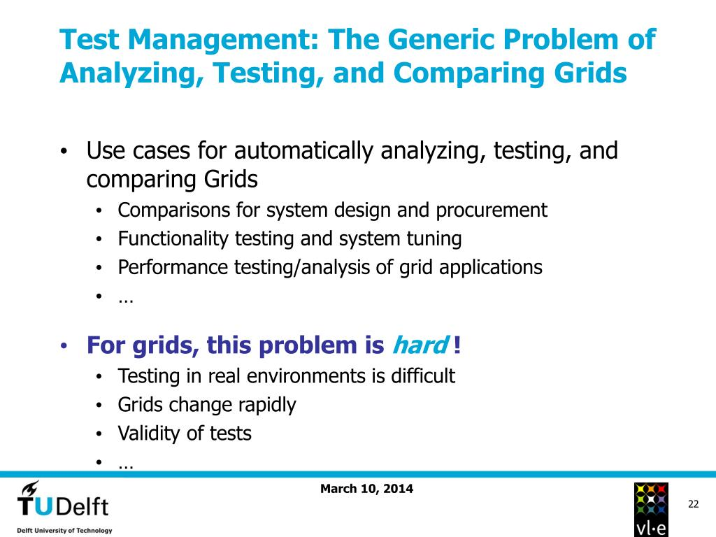 Test Management: The Generic Problem of