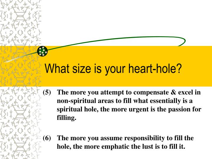 What size is your heart-hole?