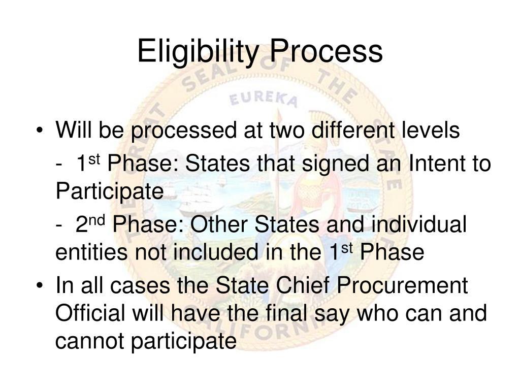 Eligibility Process