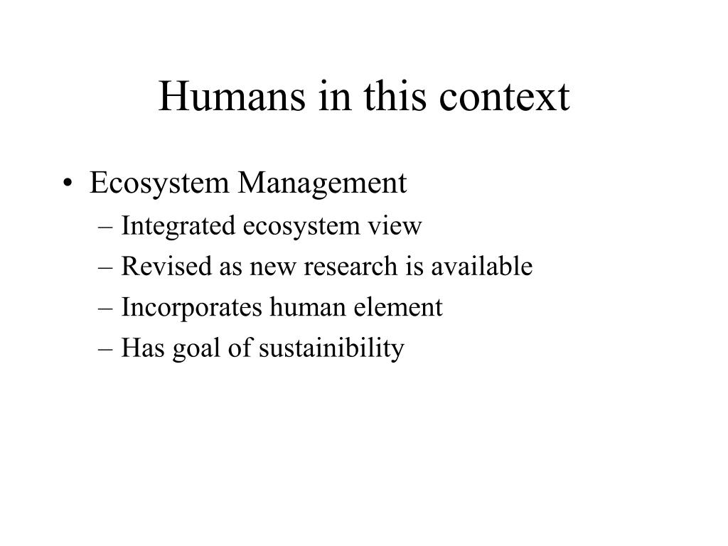 Humans in this context