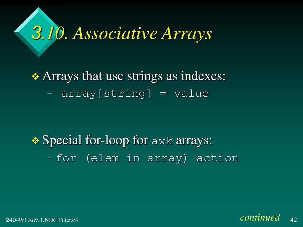 3.10. Associative Arrays