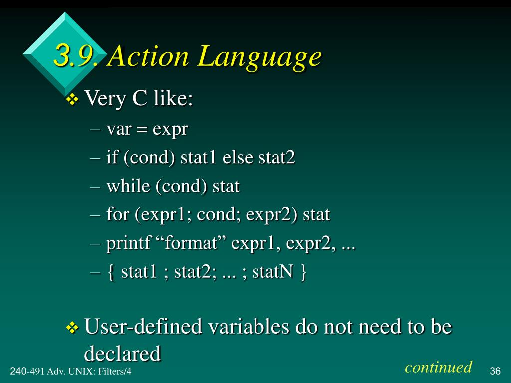 3.9. Action Language