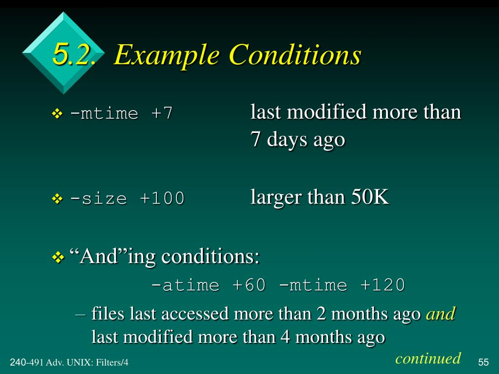 5.2.  Example Conditions