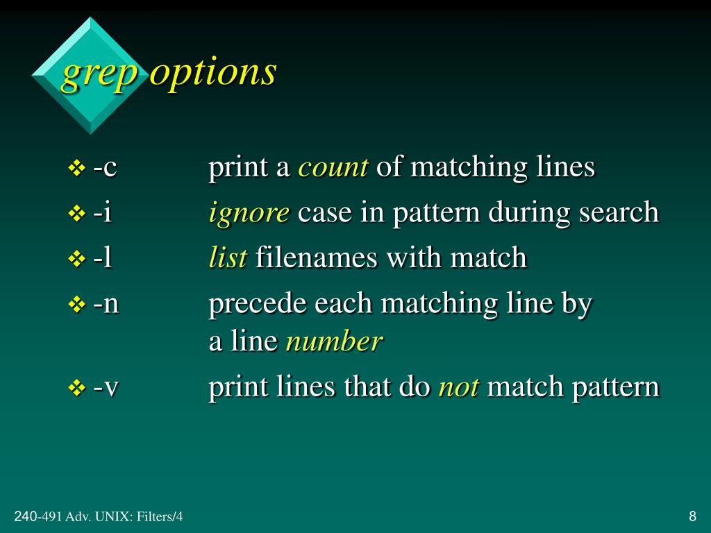 grep options
