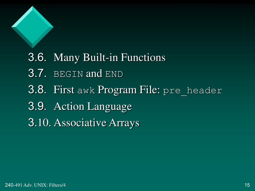3.6. Many Built-in Functions