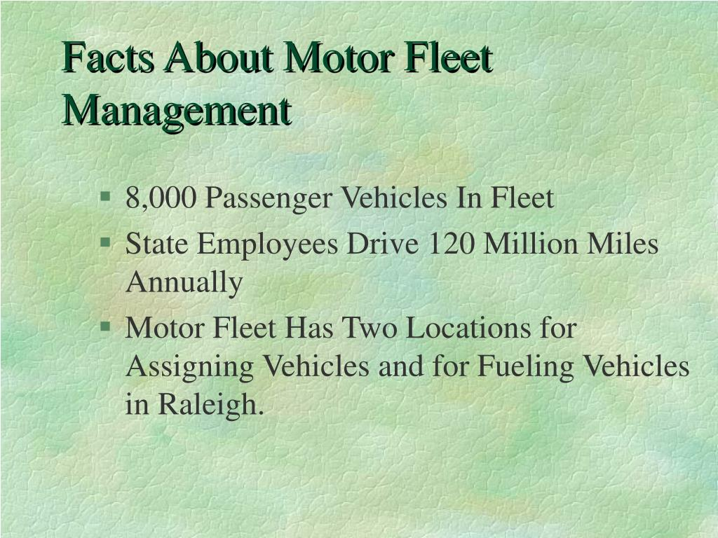 Facts About Motor Fleet Management