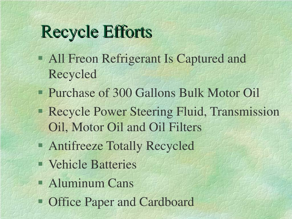 Recycle Efforts