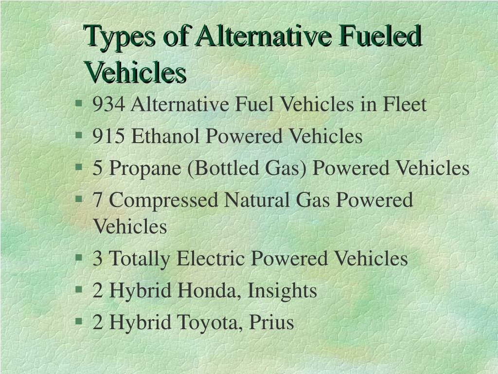 Types of Alternative Fueled Vehicles