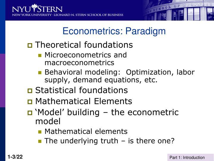 Econometrics: Paradigm