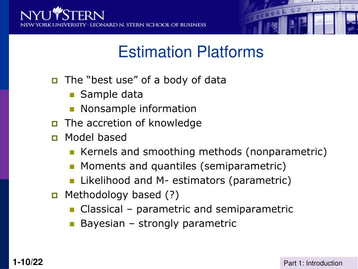 Estimation Platforms
