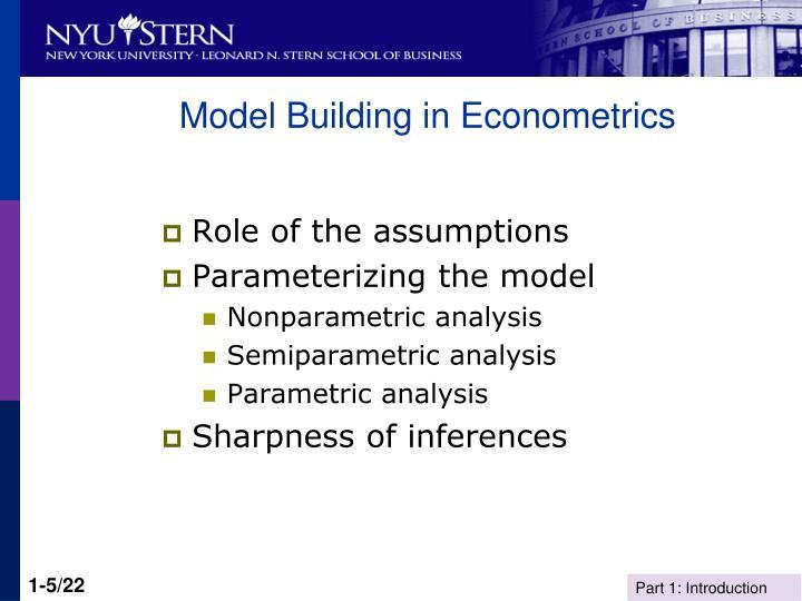 Model Building in Econometrics