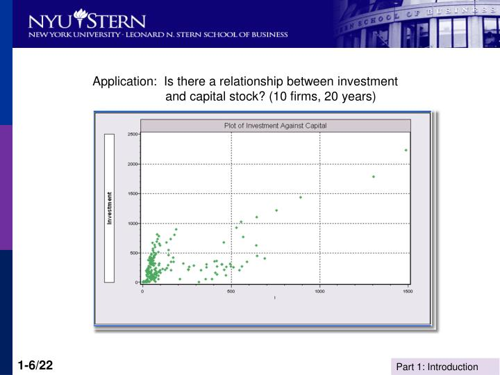 Application:  Is there a relationship between investment