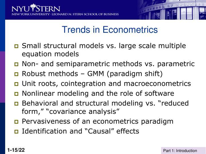Trends in Econometrics
