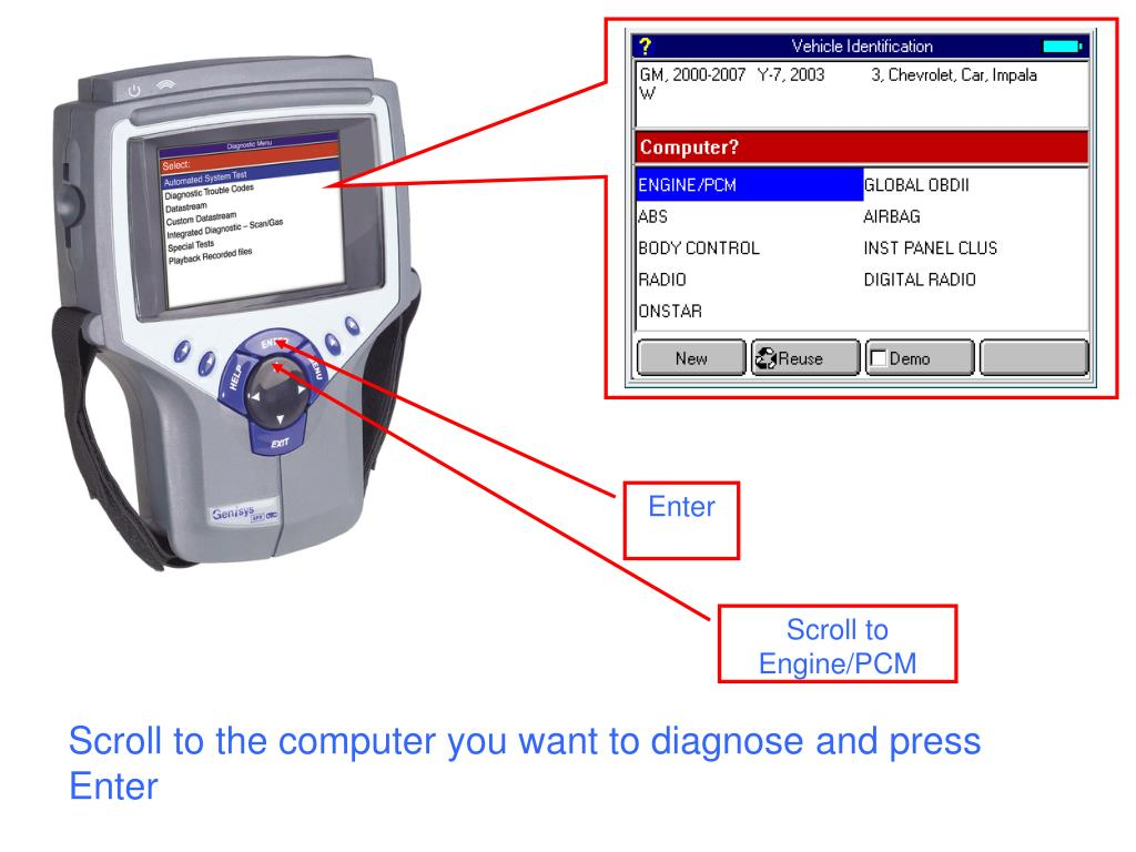 Scroll to the computer you want to diagnose and press Enter