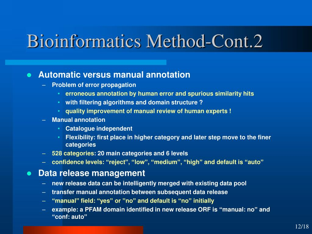 Bioinformatics Method-Cont.2