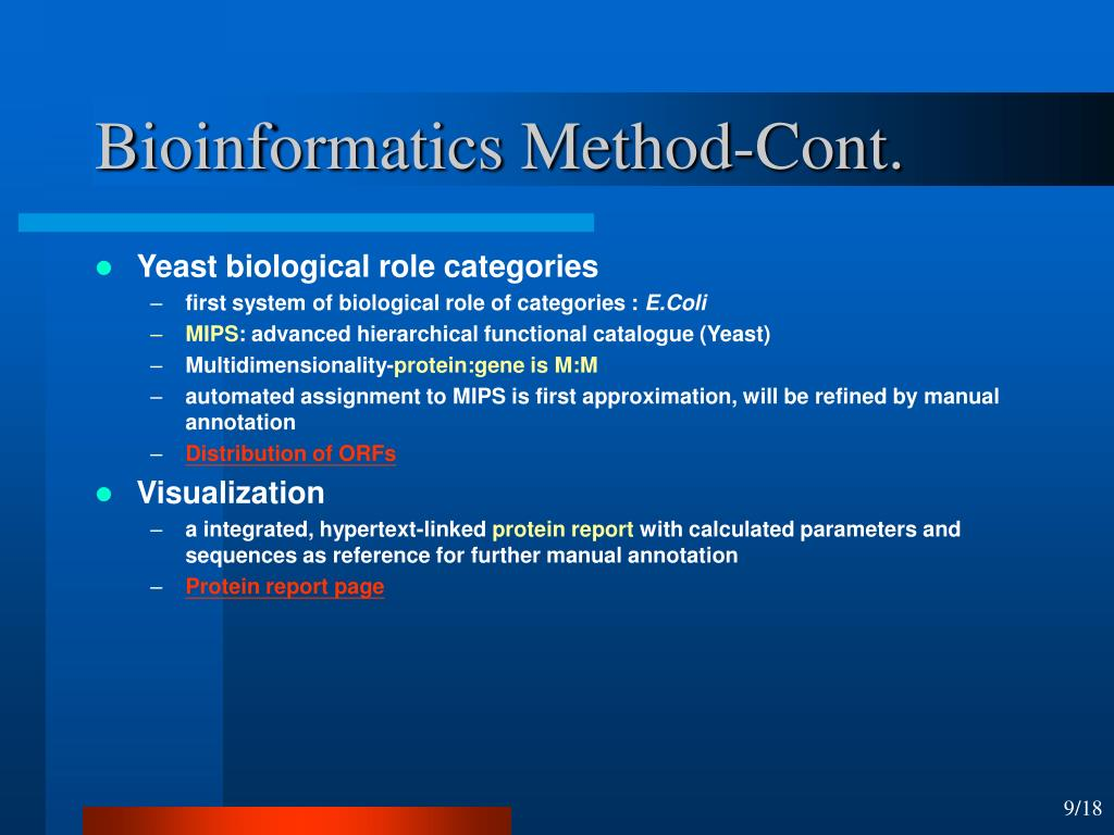 Bioinformatics Method-Cont.