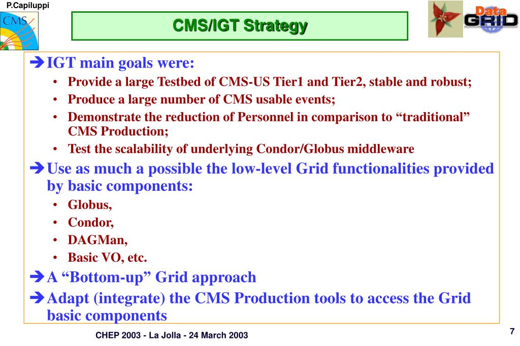 CMS/IGT Strategy