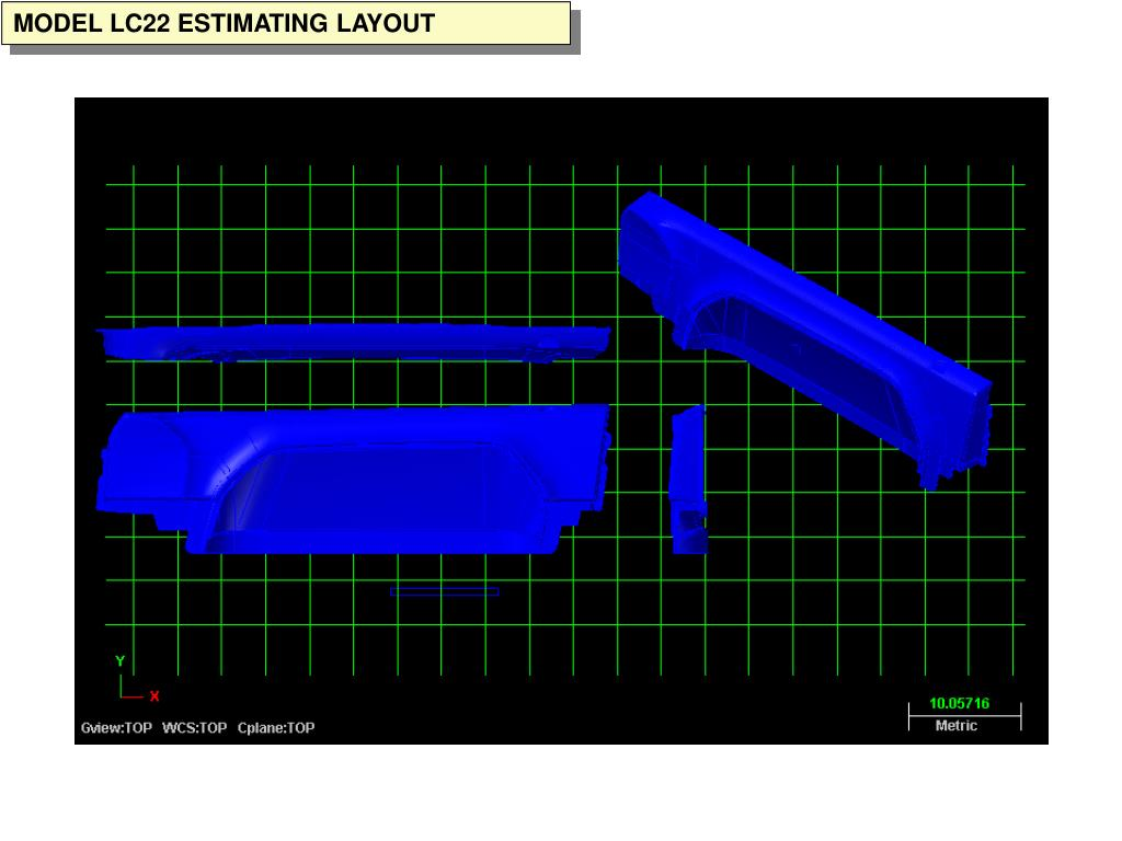 MODEL LC22 ESTIMATING LAYOUT