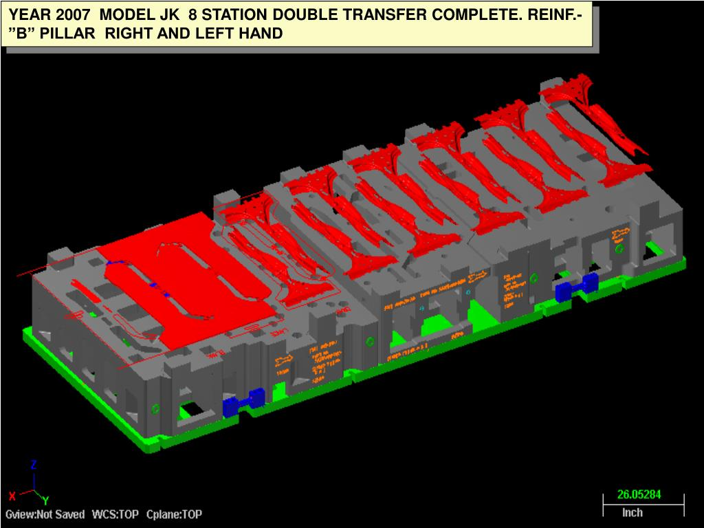 """YEAR 2007  MODEL JK  8 STATION DOUBLE TRANSFER COMPLETE. REINF.-""""B"""" PILLAR  RIGHT AND LEFT HAND"""