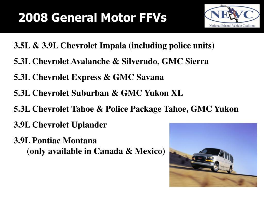 2008 General Motor FFVs
