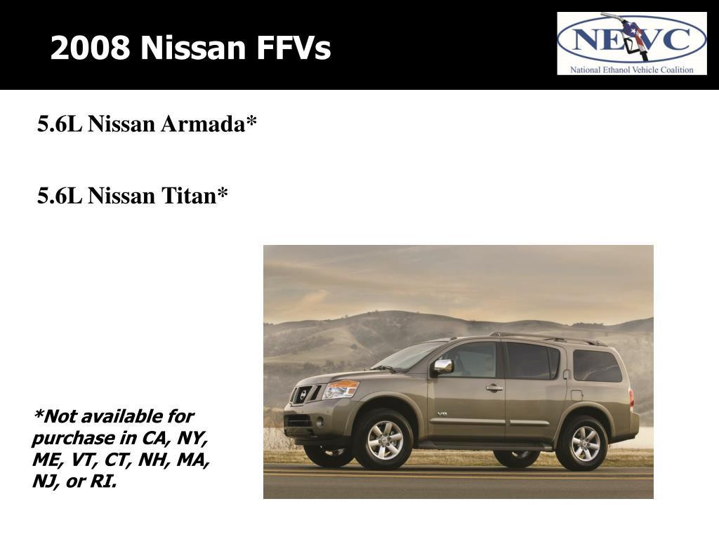 2008 Nissan FFVs