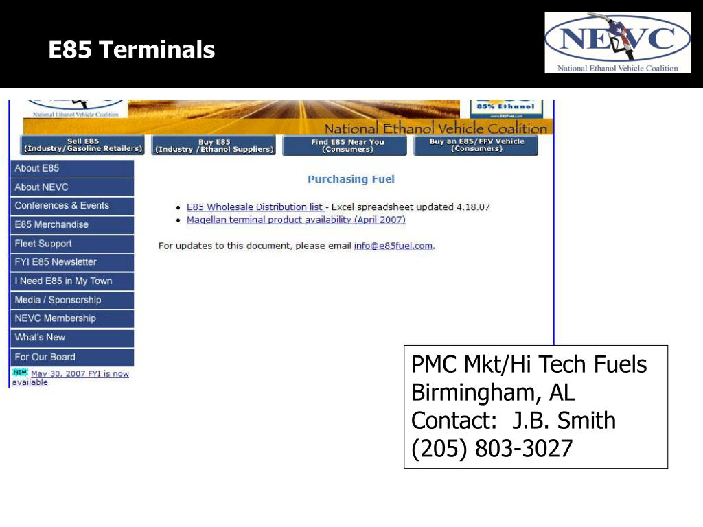 E85 Terminals