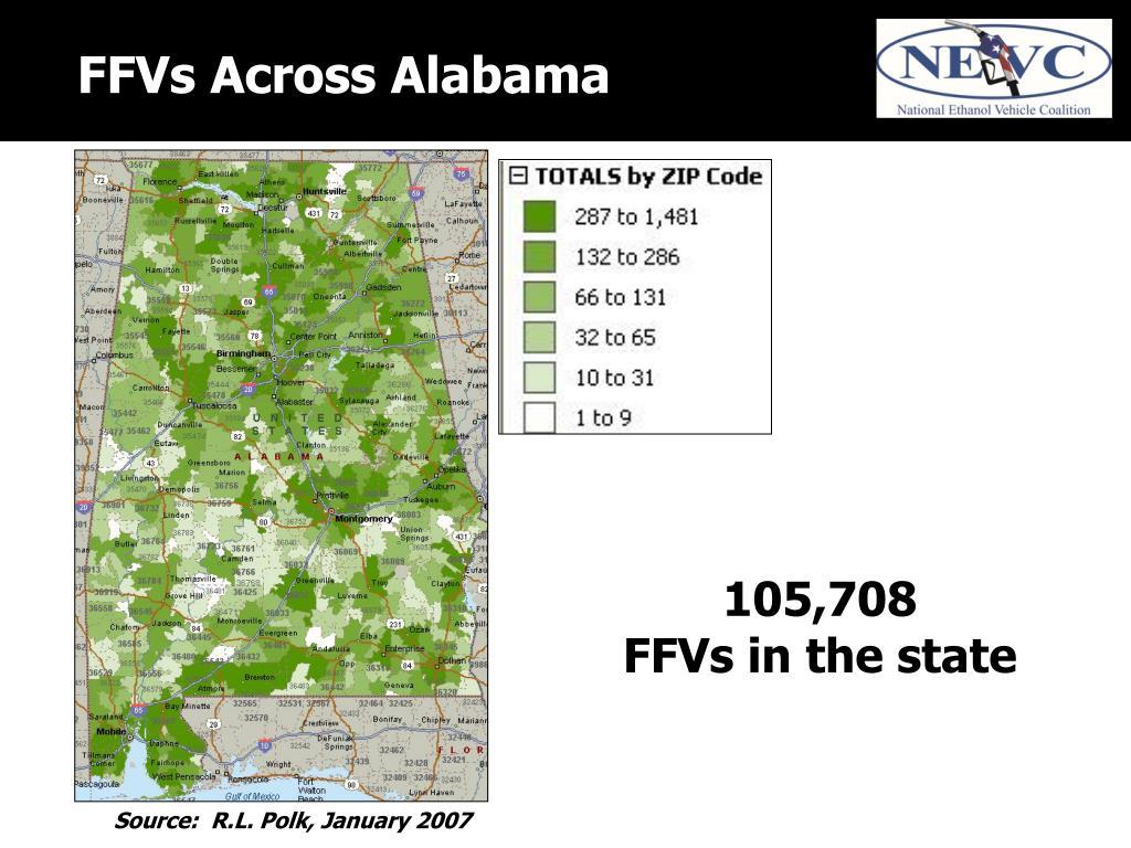FFVs Across Alabama