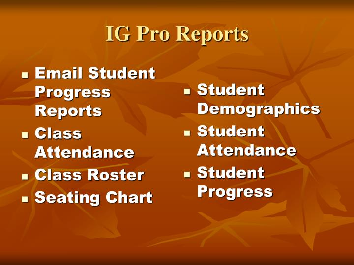 Email Student Progress Reports