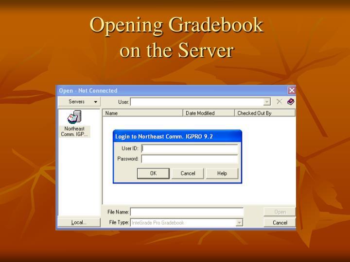 Opening Gradebook
