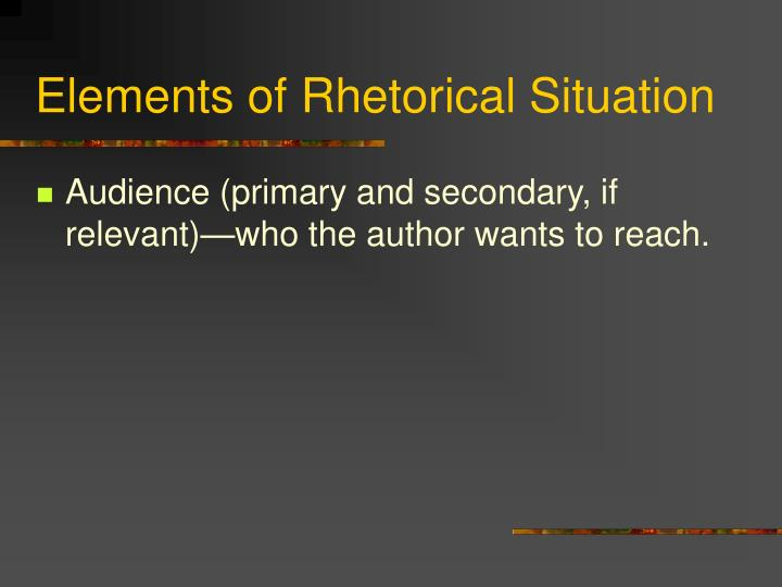 rhetorical analysis of presentation text Essay one will be a rhetorical analysis of a written or visual text of that you may choose from the class readings relating broadly to the theme of prisons.