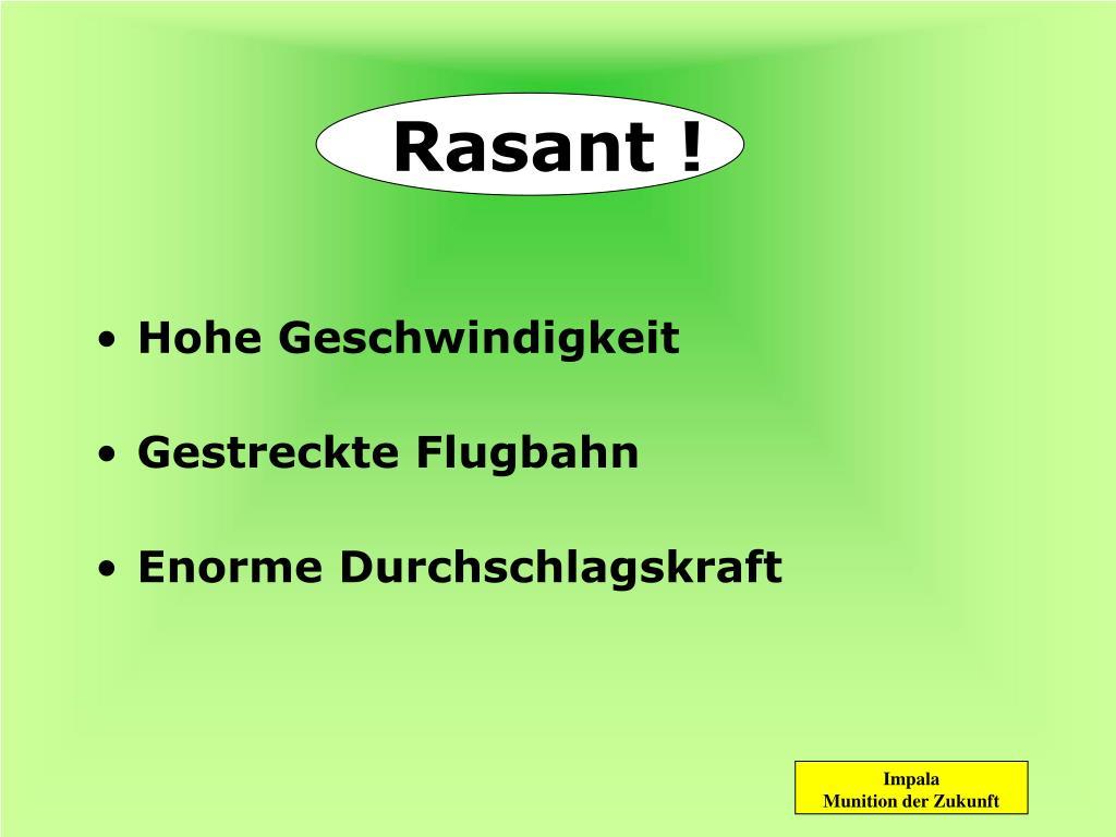 Rasant !