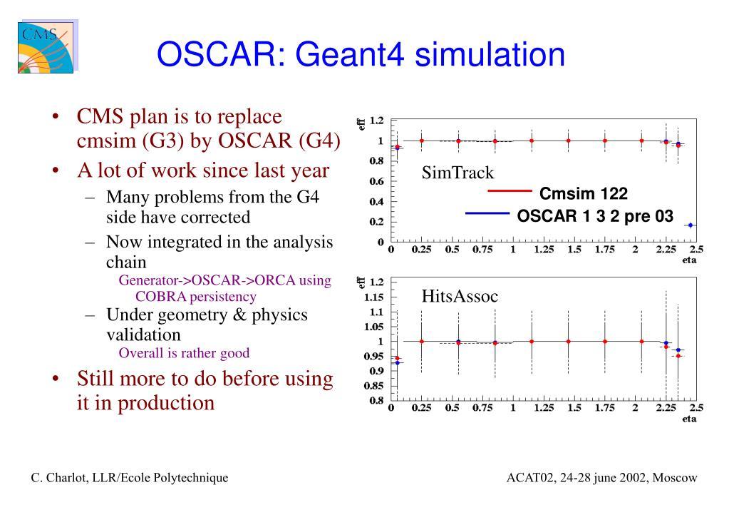 OSCAR: Geant4 simulation