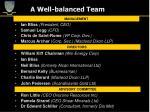 a well balanced team