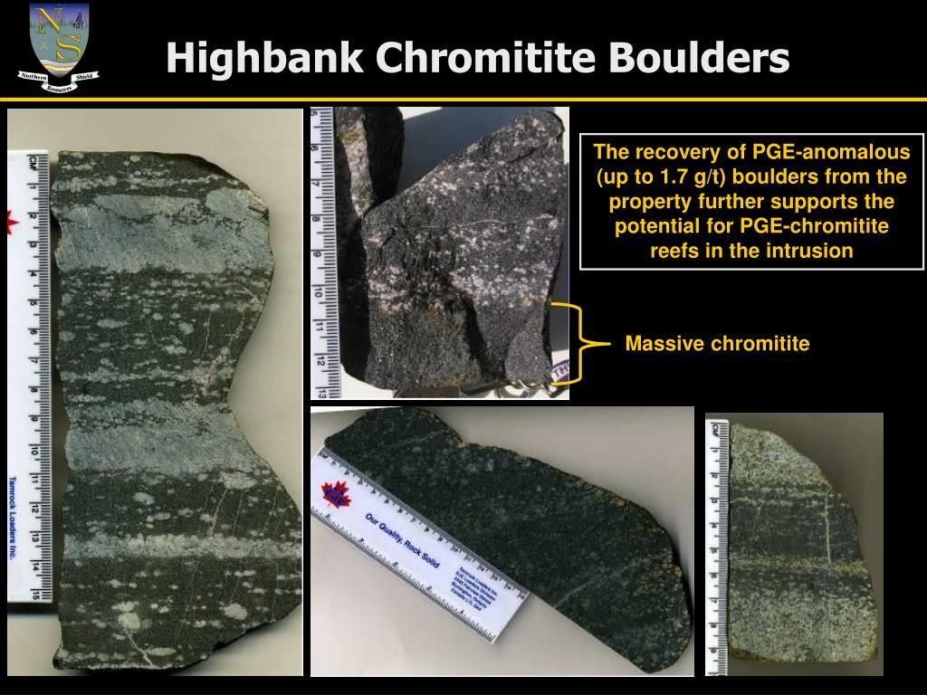 Highbank Chromitite Boulders