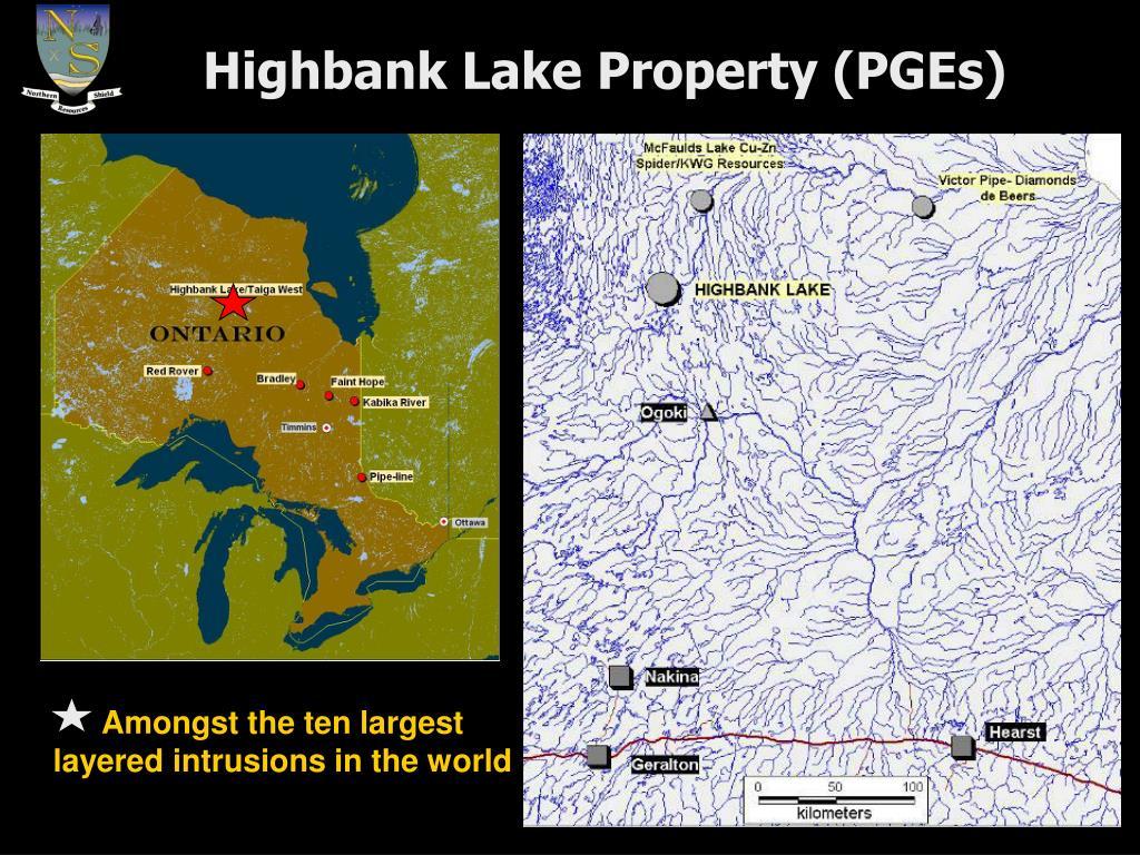 Highbank Lake Property (PGEs)
