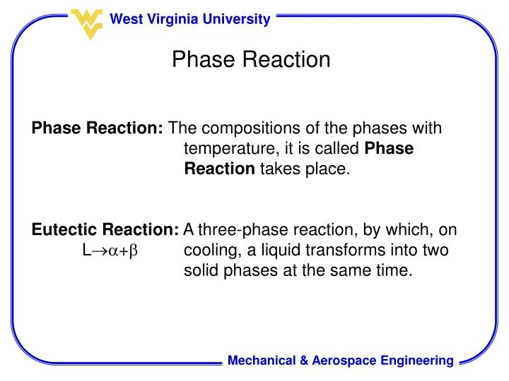 Phase Reaction