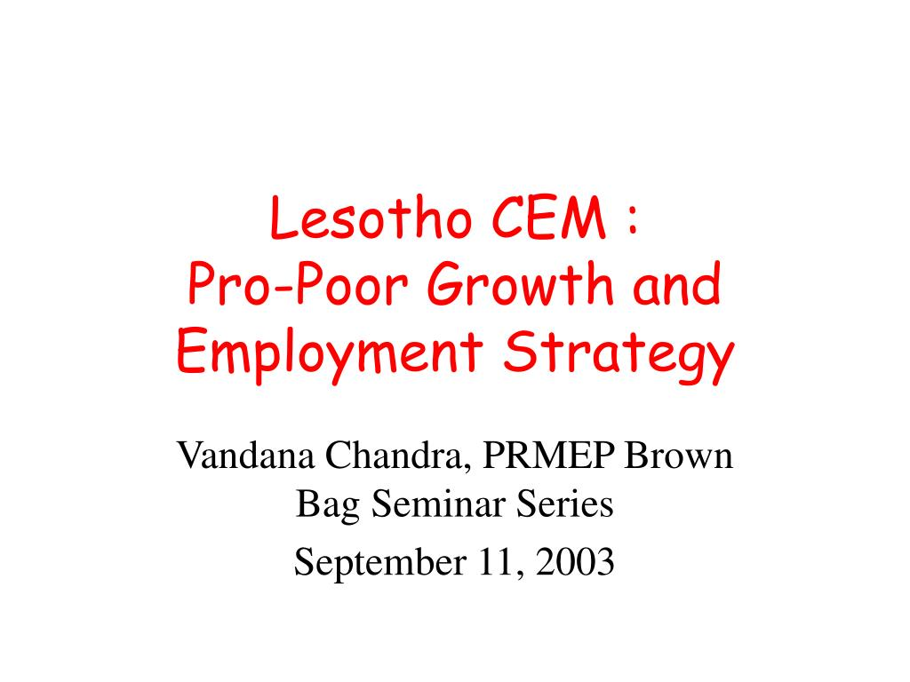 Lesotho CEM :