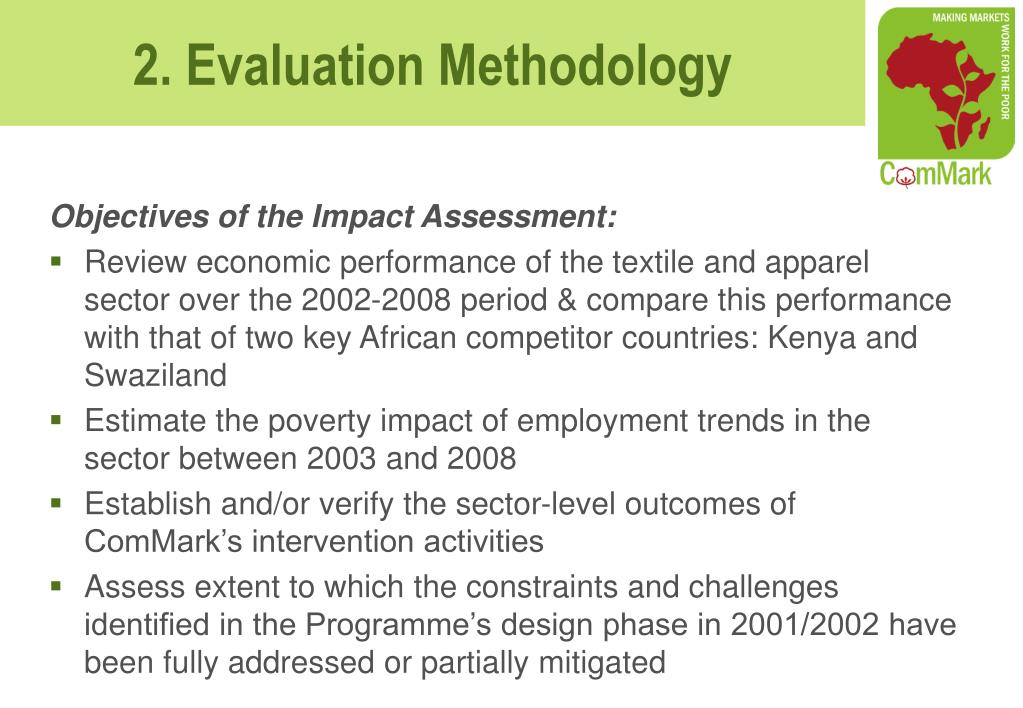 Objectives of the Impact Assessment: