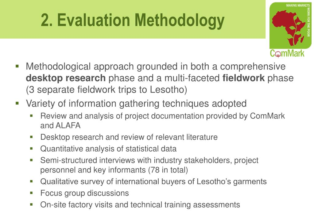 Methodological approach grounded in both a comprehensive
